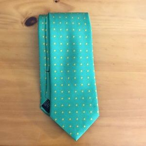 Brooks Brothers Green and Yellow Dot Tie